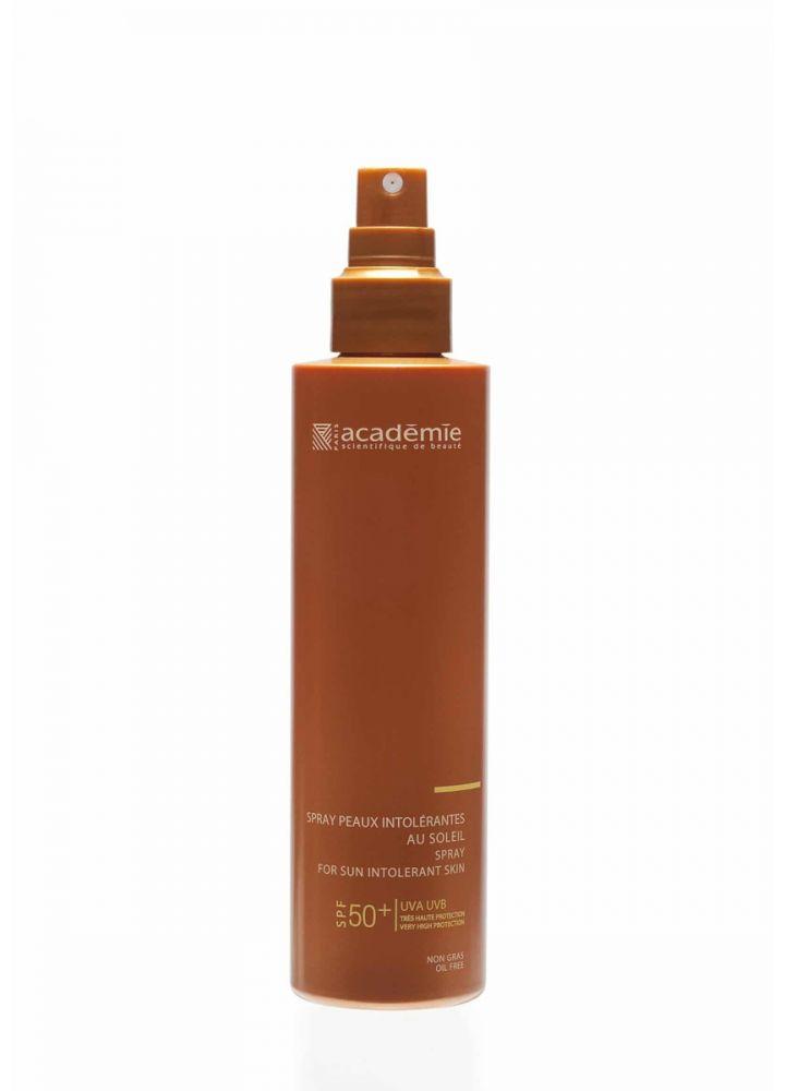 Солнцезащитный спрей для чувствительной кожи SPF 50 Academie Spray peaux intolerantes 150 мл