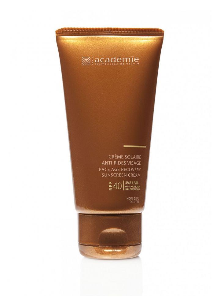 Солнцезащитный регенерирующий крем для лица SPF 40+ Academie Creme solaire 50 мл