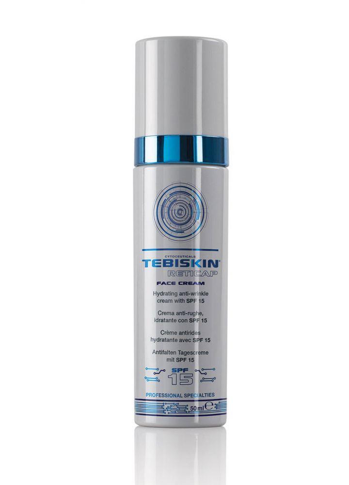 TEBISKIN Reticap Face Cream - Дневной крем для лица от морщин SPF15 с чистым ретинолом